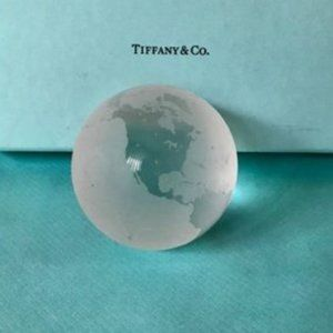Tiffany & Co. Crystal Globe Paperweight, 2 1/4""